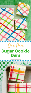 Pinterest image for One Pan Sugar Cookie Bars with text