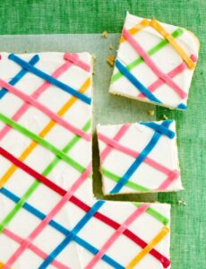 Close up recipe image of One Pan Sugar Cookie Bars
