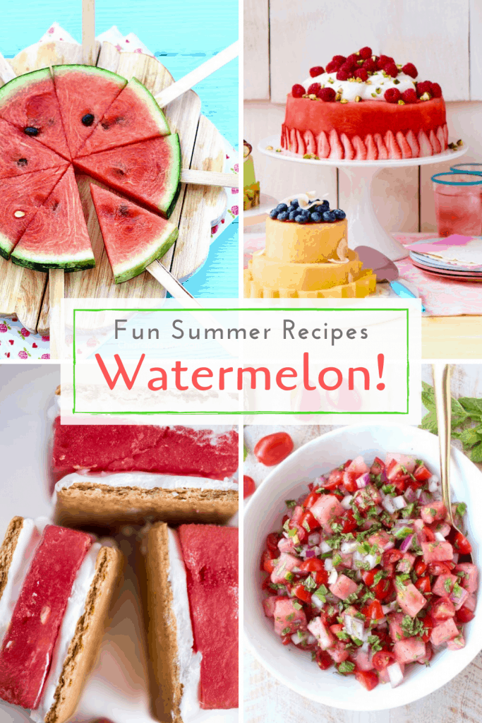 Watermelon hacks and recipes pin