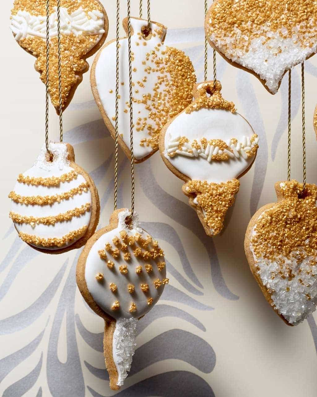 honey cinnamon cut out cookies with white sugar