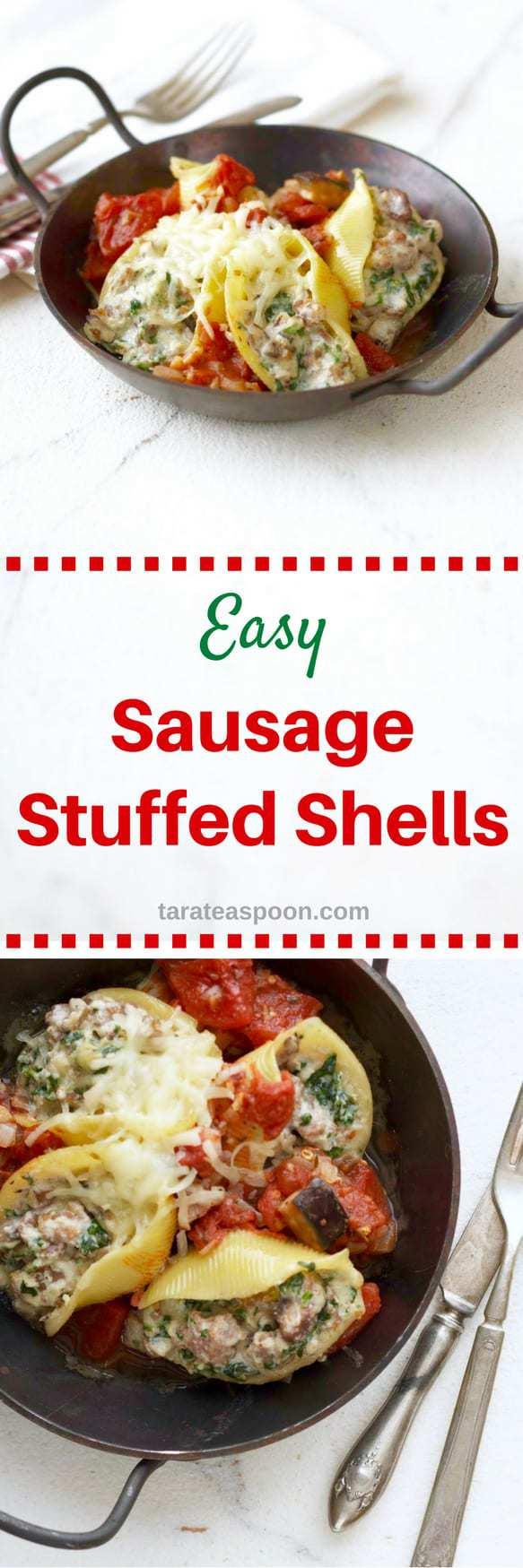 sausage stuffed shells long pin