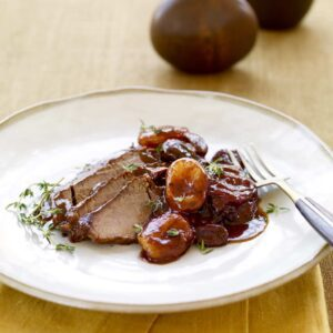 Slow Cooker Brisket With Fruit and Wine Sauce