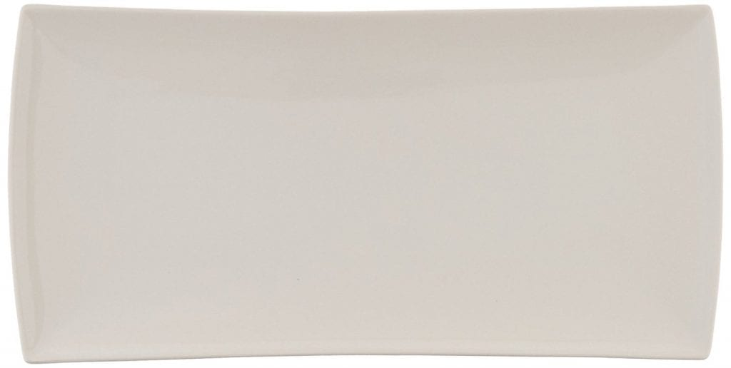 white rectangle platter