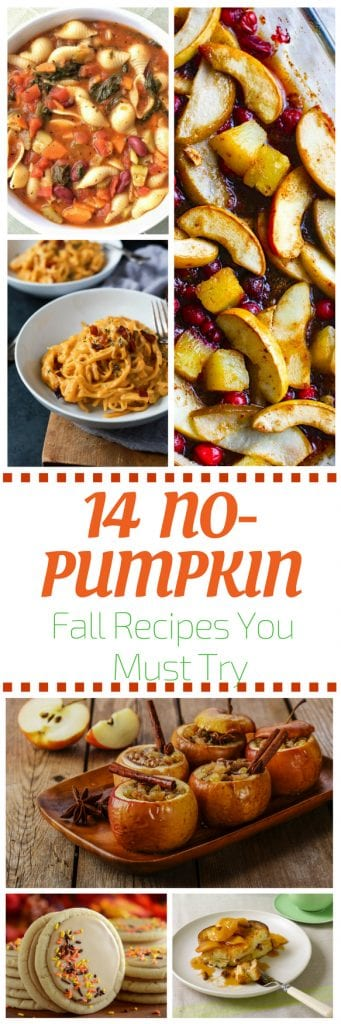 14 non pumpkin fall favorite recipes pin
