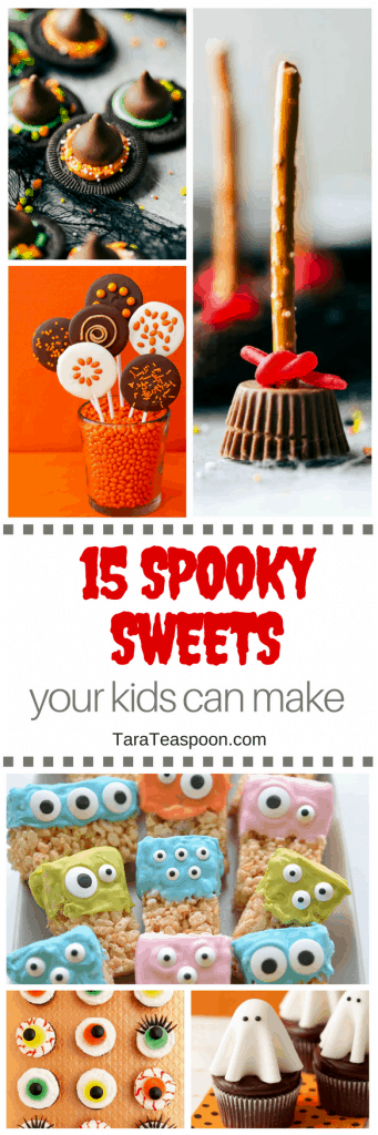 15 Spooky Sweets Your Kids Can Make pin image
