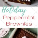 holiday peppermint brownies pin