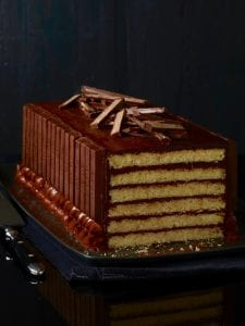 Kit Kat Cake Halloween missing a slice