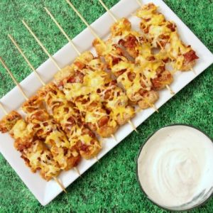 Tailgate Kabobs: Loaded Tater Tot Skewers