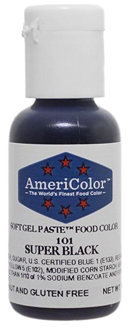 bottle of black food coloring