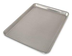 silver half sheet pan on white