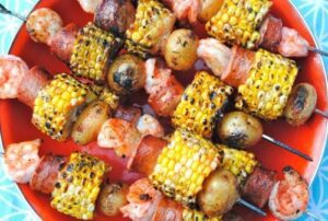 Tailgate Kabobs: Shrimp Boil Packet
