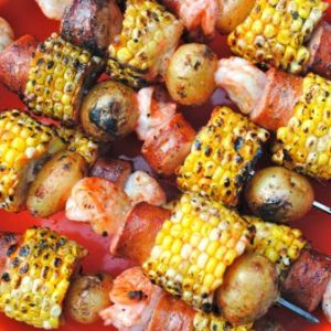 Tailgate Kabobs: Shrimp Boil Packet