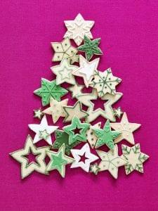 Various star Christmas cookies