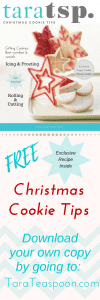 Free Christmas Cookie Tips booklet pin