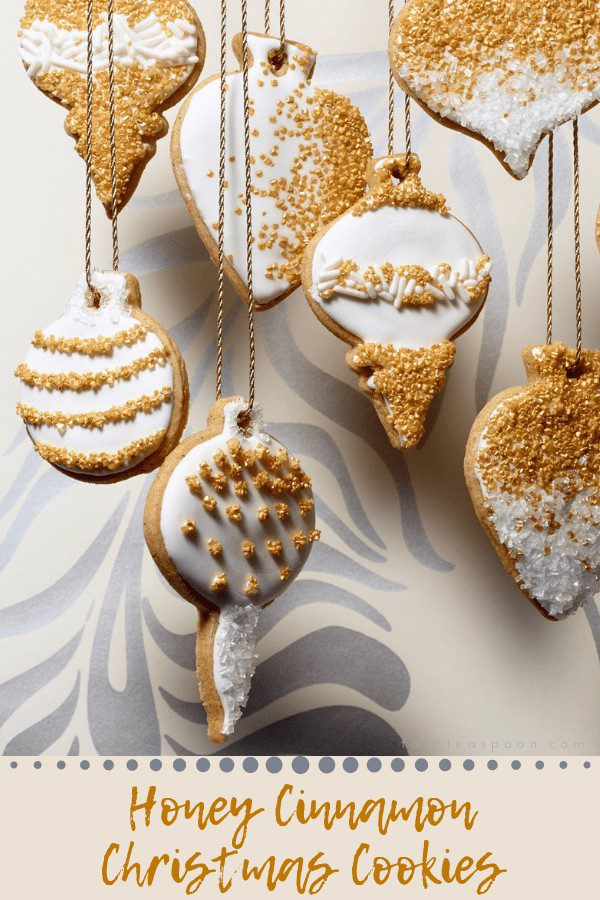 Honey Cinnamon Cut Out Cookies for Christmas
