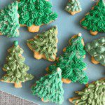 Almond Ginger Cutout Cookies with Cream cheese Frosting