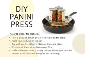 Eggplant and Mozzarella panini press diy set up