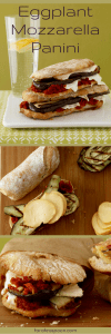 Easy Eggplant and Mozzarella panini pin