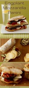 Easy Eggplant and Mozzarella panini pin