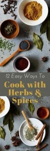 12 easy ways to cook with herbs and spices pin