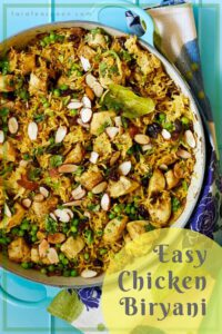 Easy Chicken Biryani Pin