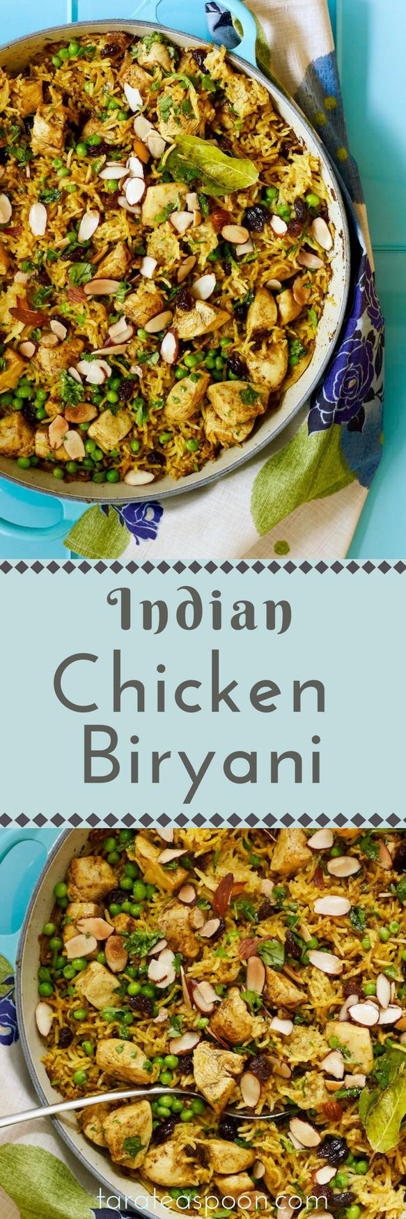 Chicken Biryani easy dinner casserole from Tara Teaspoon