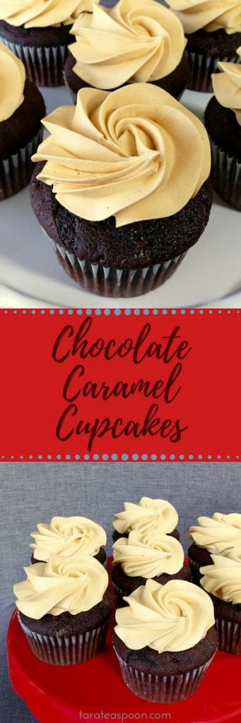 Chocolate Caramel Cupcakes Recipe pin