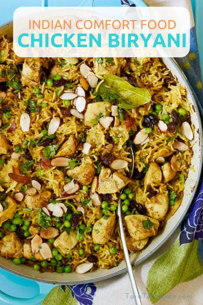 Indian Comfort Food Chicken Biryani Pin