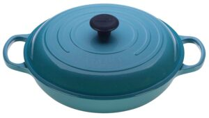 Le Creuset Braiser with lid in Carribean