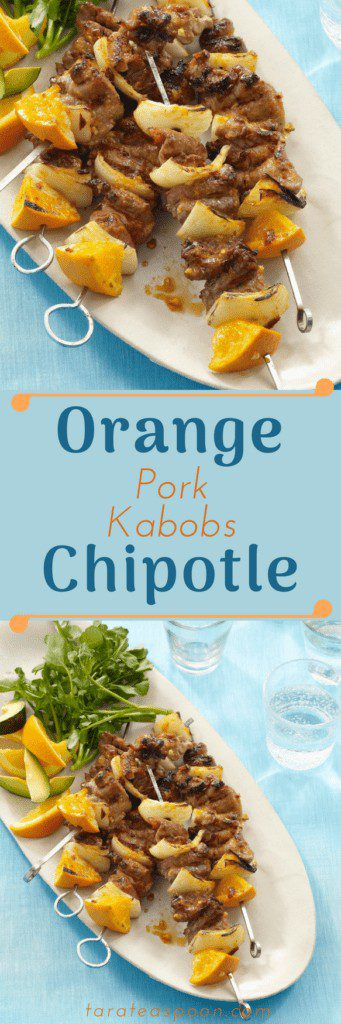 Orange and Chipotle Pork Kabobs pin image