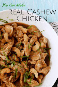 Make real cashew chicken at home