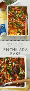 spinach and chicken enchilada casserole