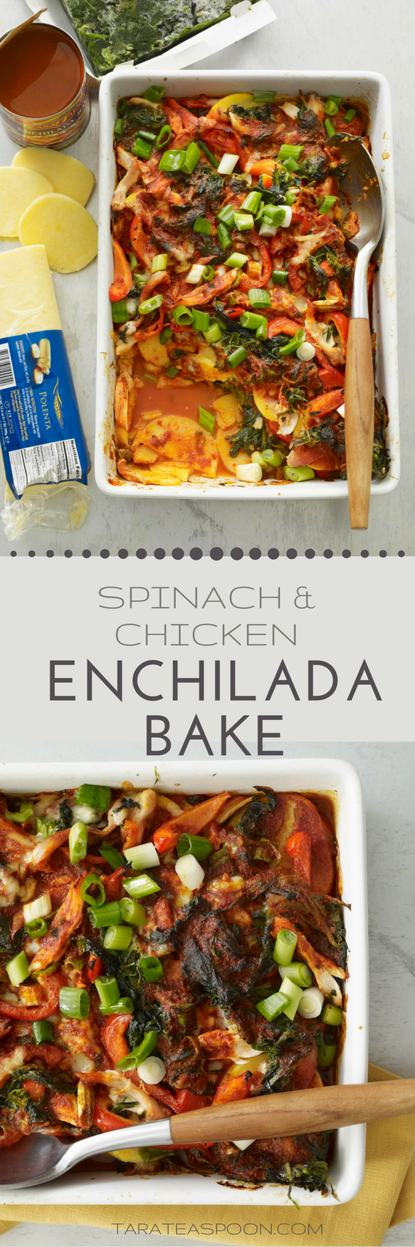 spinach and chicken enchilada casserole