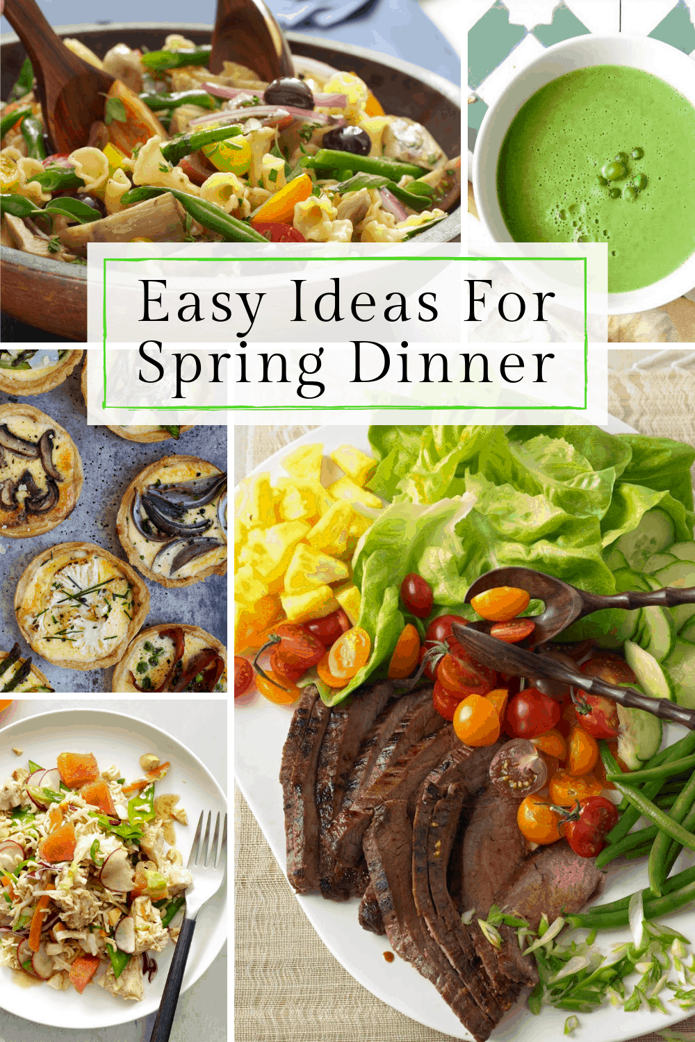 Ideas for spring dinners pin