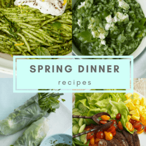 Spring Dinner Recipes to pin