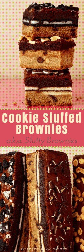 The ultimate cookie stuffed brownies for pinning
