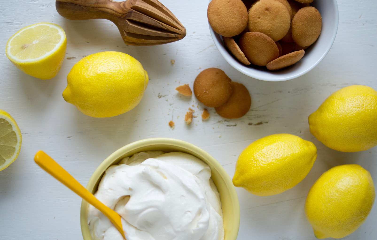 No-Bake Lemon Icebox Pie ingredients.