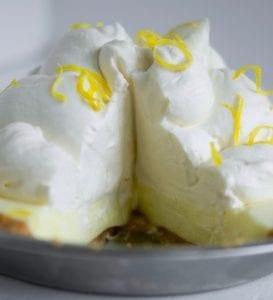 Easy to make lemon no bake pie recipe image