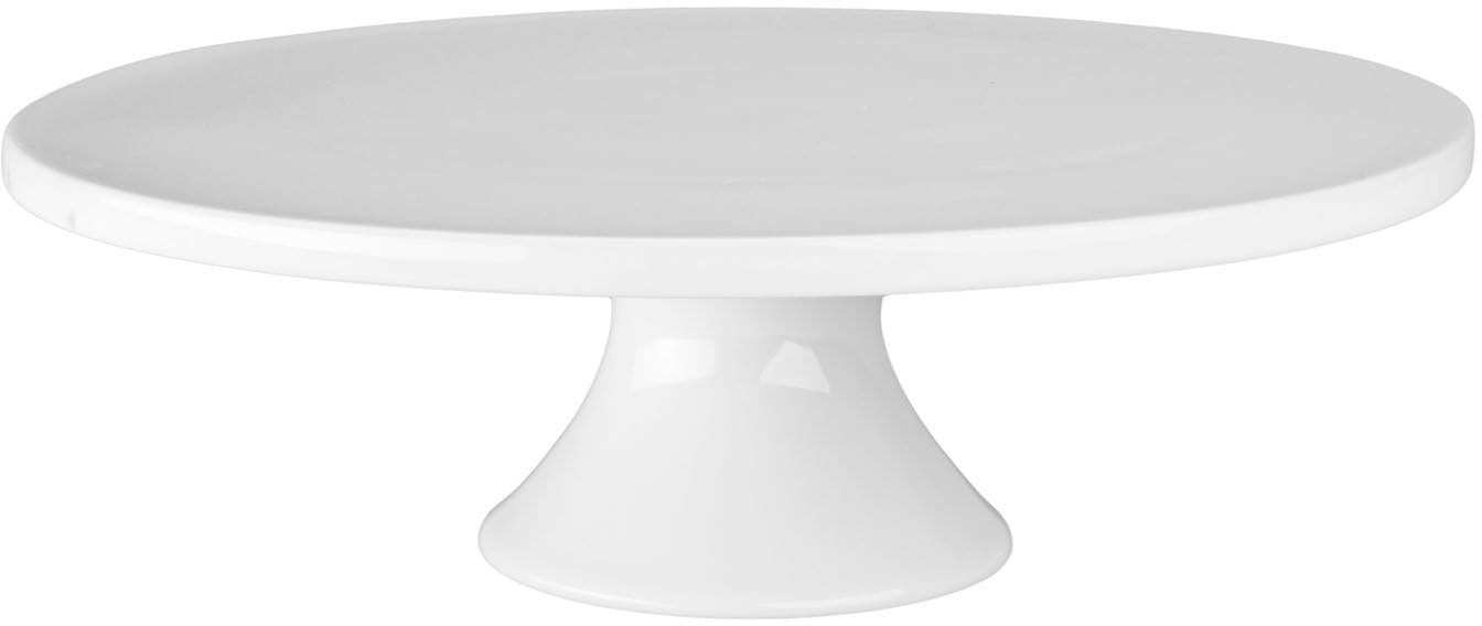 12-Inch by 3-3/4-Inch Porcelain Round Cake Stand, White