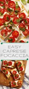 Healthy Italian pizza recipe pin image
