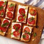 easy caprese focaccia tart recipe image