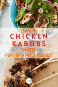 lemon chicken kabobs with grilled pita pin