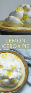 No Bake Lemon Icebox Pie is easy to make and great for summer parties