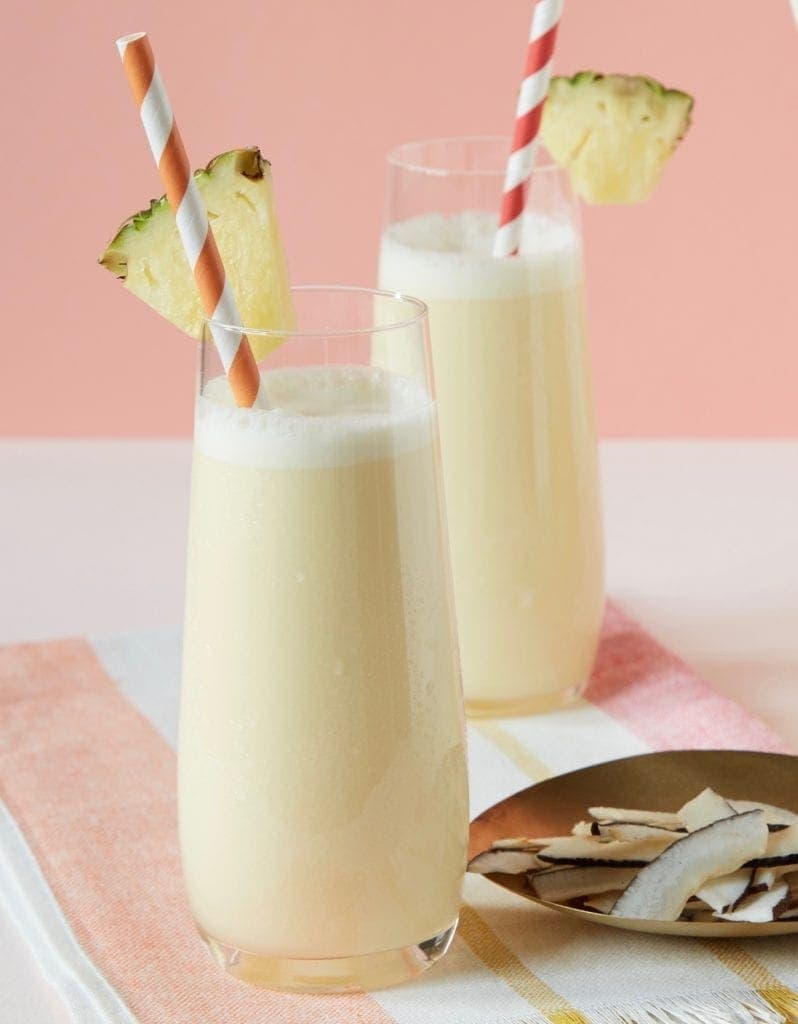 Perfect pina colada with pineapple
