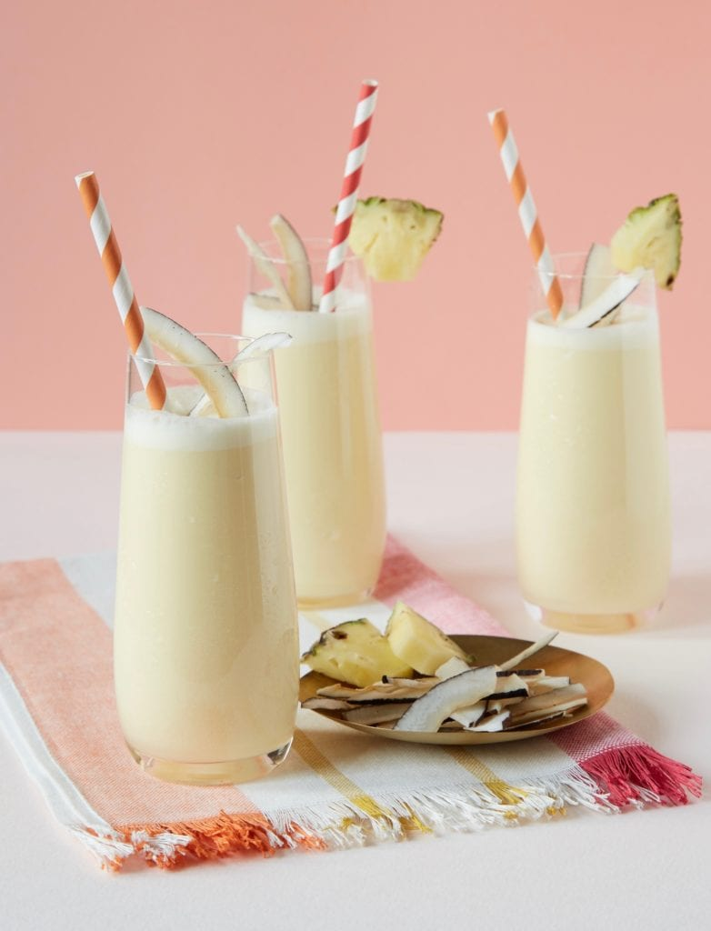 Perfect pina colada in glasses