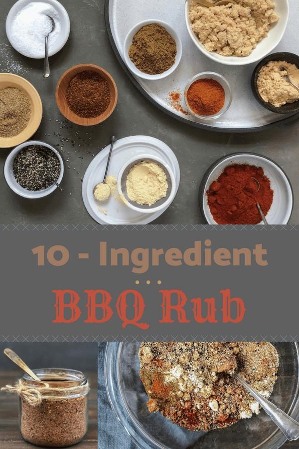 10 ingredient bbq rub pin image
