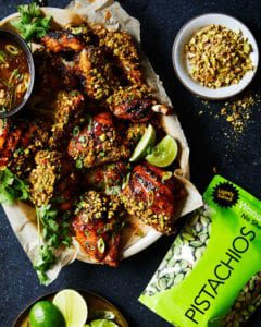pistachio chicken with lime and Wonderful No Shells