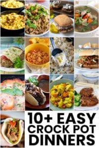 ten easy Crock Pot Dinners pin