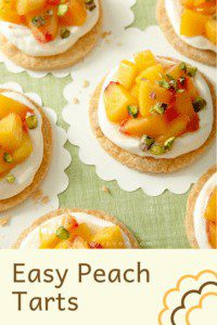 peach tarts pin image