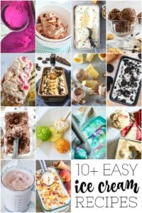 10 easy ice cream recipes pin image
